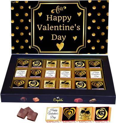 Valentine Day Chocolate And Roses Gift for Husband Valentines Chocolate Gift Box